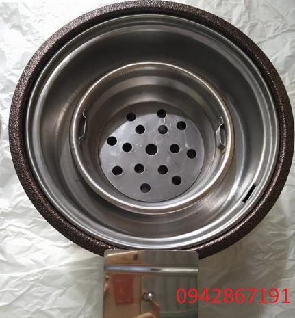 Bếp nương than hoa không khói co quạt thổi than tại Nam ĐỊnh