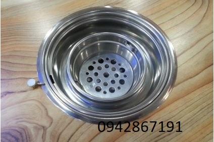 Bếp nướng than hoa không khói âm bàn hút dương tại Bắc Ninh