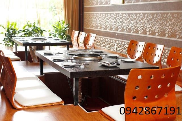 Bếp nướng than hoa không khói hút âm nhà hàng tại Hà Nội