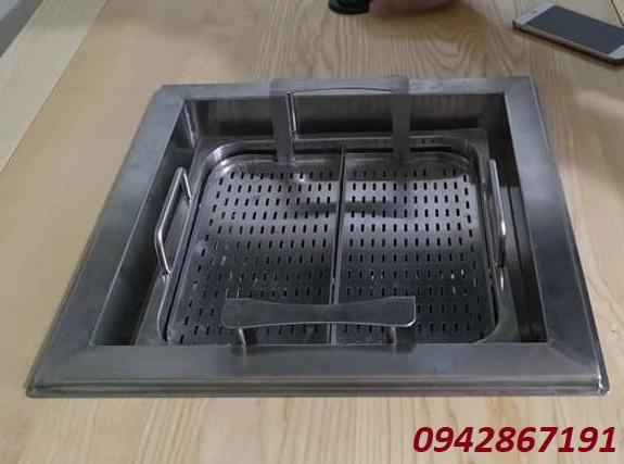 Bộ bếp tự nâng thang máy 2 ngăn Trung Hoa