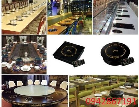Bàn bếp từ lẩu âm bàn tròn nhà hàng chất lượng giá rẻ nhất hiện nay