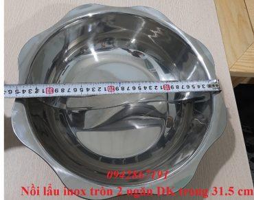Nồi lẩu inox 2 ngăn tròn giá rẻ Hà Nội - Hồ Chí Minh