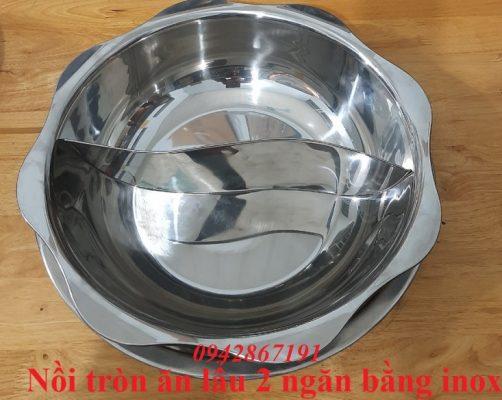 Nồi lẩu inox 2 ngăn bằng inox chất lượng cao ở Hà Nội