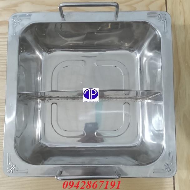 Cung cấp nồi lẩu inox 2 ngăn giá rẻ tại Quảng Ninh