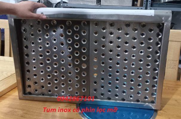 Tum inox hút mùi bếp gia đình có phin lọc mỡ giá rẻ tại Hà Nội